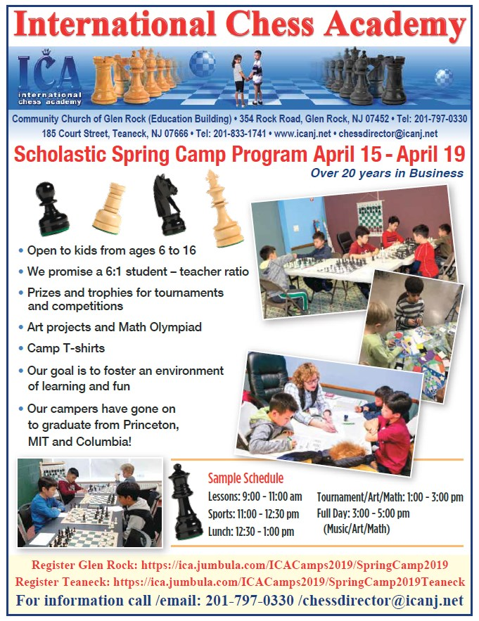 2019 Scholastic Spring Camp Program April 15 - April 19